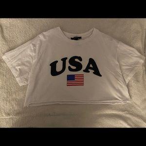 USA cropped shirt